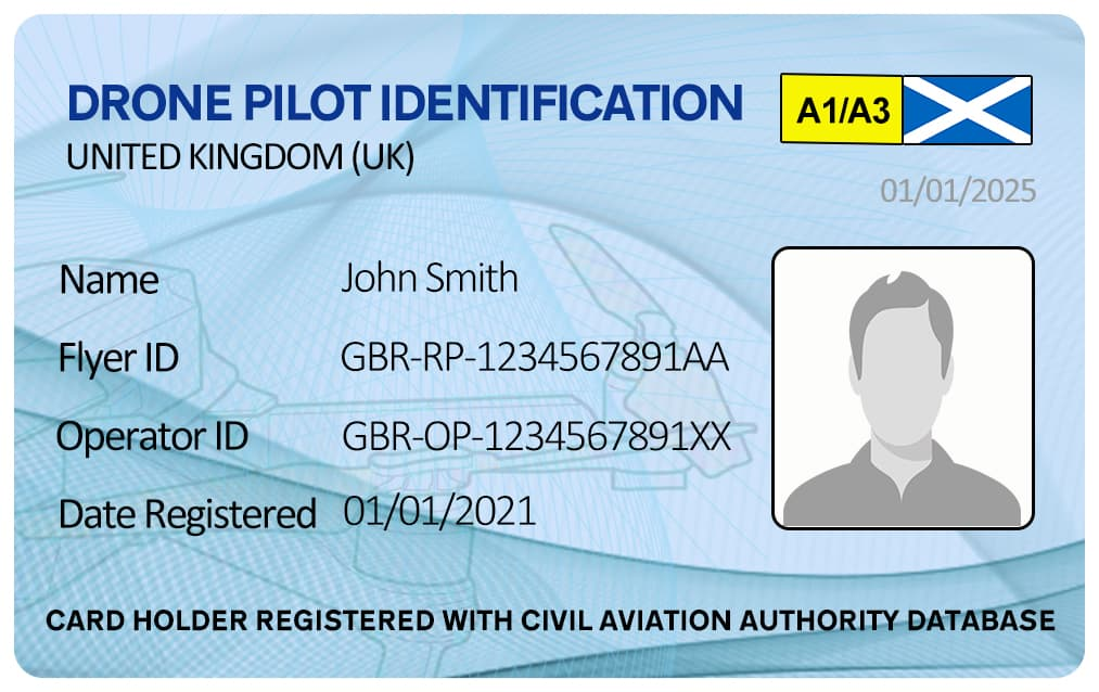 Drone Photo ID Card Scotland