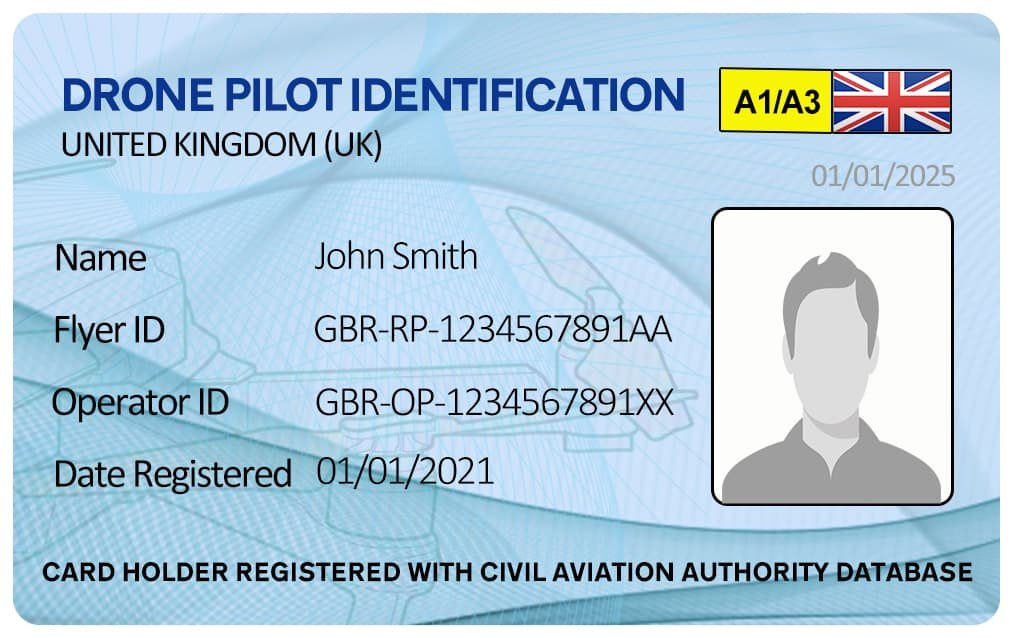 Drone Pilot Photo ID Card