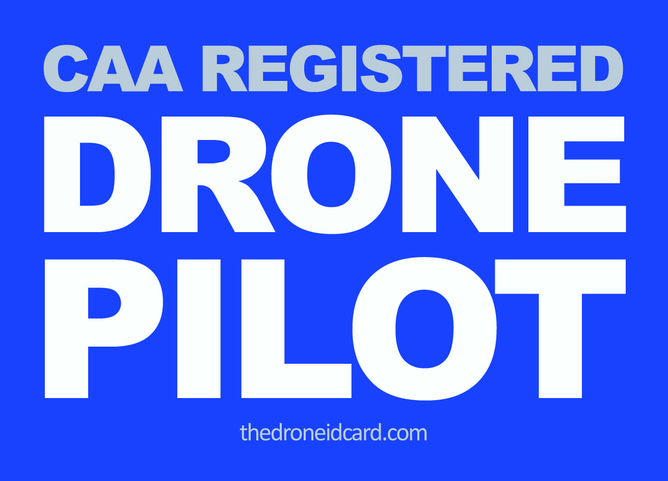 Registered CAA Drone Pilot Stickers