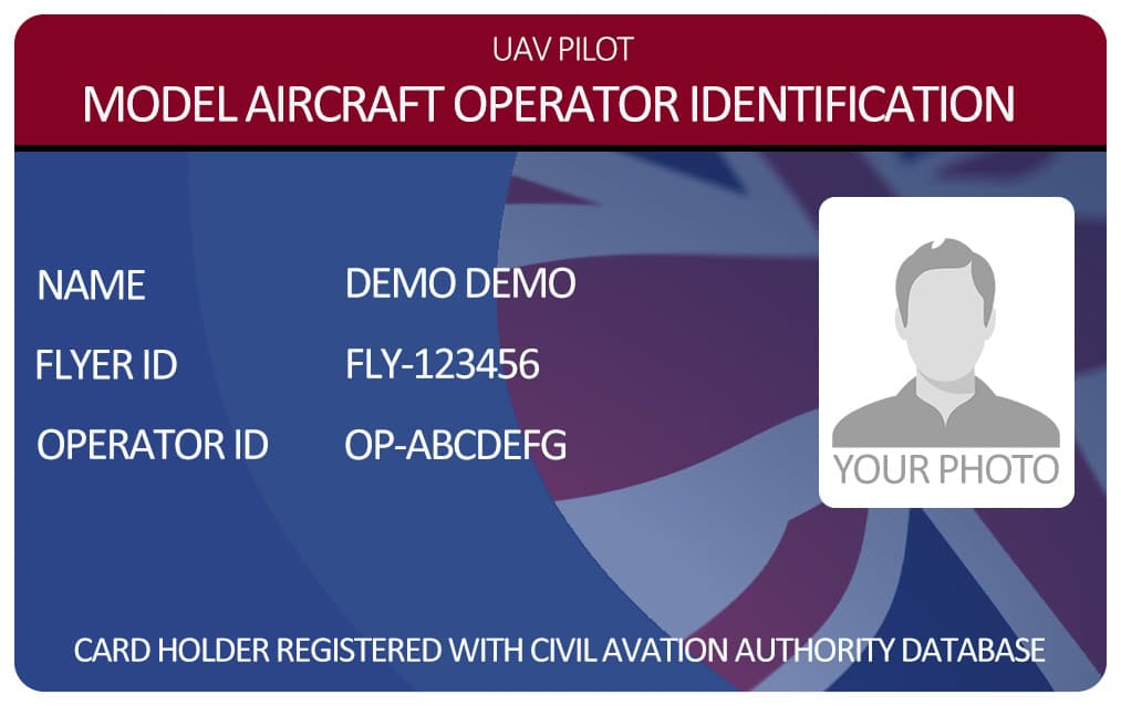 Model Aircraft Operator Photo ID Card