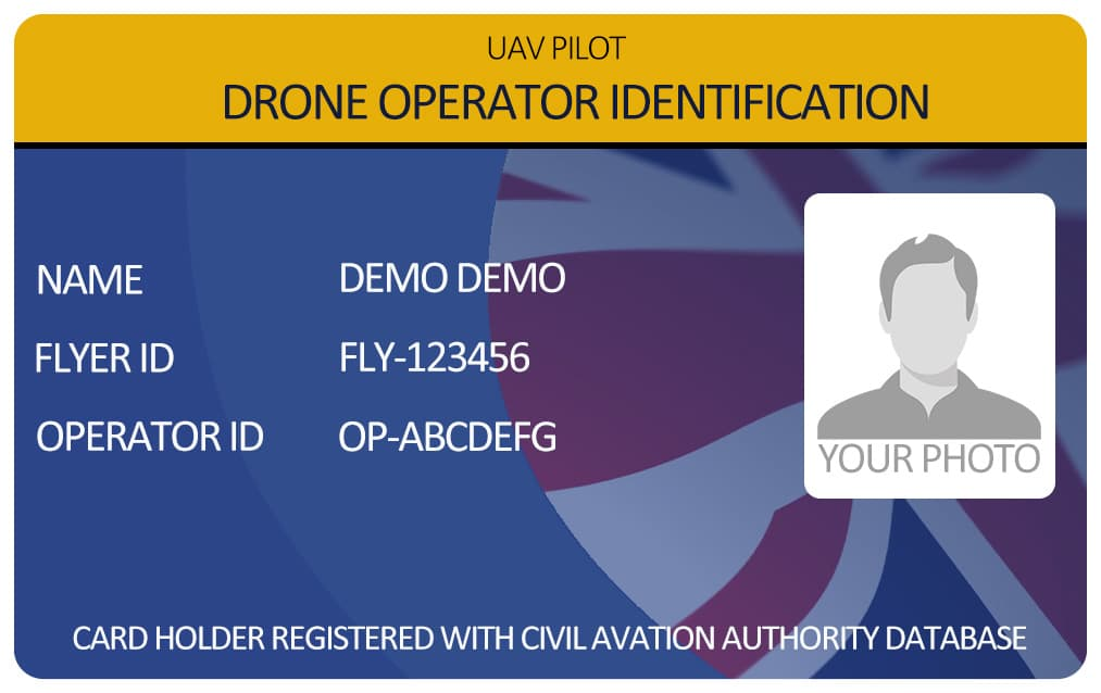 Drone Operator Photo ID card