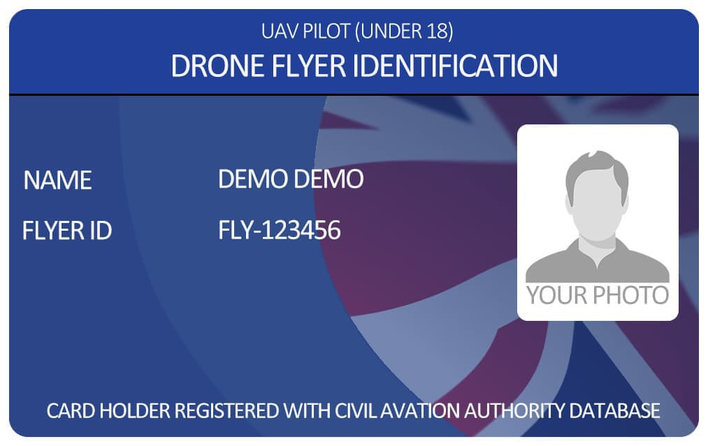 Under 18 Drone Photo ID Card